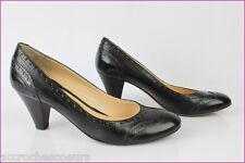 Escarpins CHARLES KAMMER Tout Cuir Noir Made in Italy T 36 TBE