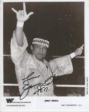 WWF WRESTLING LEGEND JIMMY SNUKA SIGNED 8X10 SUPERFLY HOF WWE WRESTLEMANIA HEEL