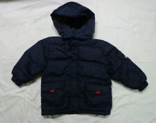 Baby Gap Boys Toddler Size 4 Navy Blue Hooded Down Puffer Winter Coat