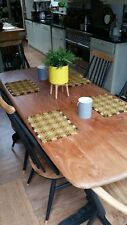 Ercol table and dining chairs mid century .