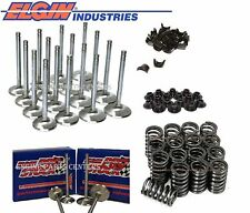 Chevy (16) 305 350 327 Stainless Valves 1.5 1.94 ELGIN Z28 Springs+Retainers Kit
