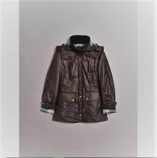 "NWT $895 Women Burberry ""Balthorned"" Waxed Cotton Jacket (US 12)"