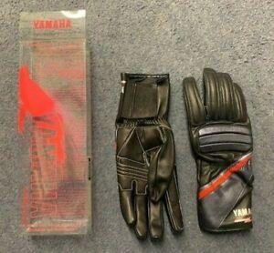 Yamaha Leather Motorcycle Gloves - Black