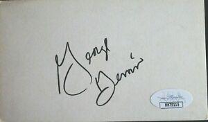 ICEMAN George Gervin Spurs HOF Autographed 3x5 Index Signed Card JSA COA