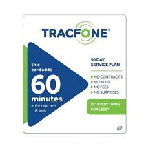 TracFone $19.99 Refill -- 60 Minutes / 90 Days. Loaded Directly