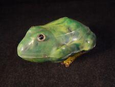 Ancien jouet mécanique grenouille reinette crapaud bakélite Gégé France 1940/50