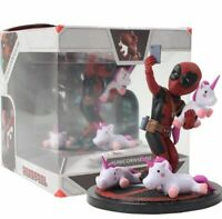 Avengers Deadpool Action Figure Deadpool Funny Unicorn Selfie Painted Figure