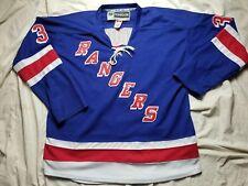 62d6dca8c01 CCM REEBOK New York NY RANGERS Henrik LUNDQVIST #30 Hockey Fight Strap  Jersey 54