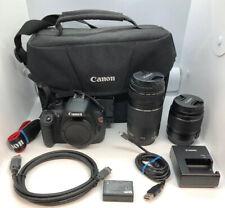 Canon EOS Rebel T5 / EOS 1200D 18MP DSLR Camera Black Kit w/ 18-55mm & 75-300mm