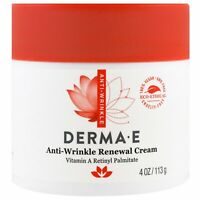 Derma E Anti-Wrinkle Renewal Cream 4 oz 113 g Cruelty-Free, EcoFriendly,
