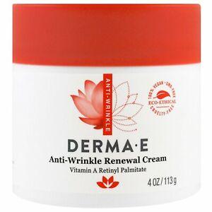 Derma E Anti-Wrinkle Renewal Cream 4 oz 113 g Cruelty-Free, EcoFriendly,