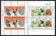New Zealand 1982 & 1983 Cats & Dogs Miniature Sheets MNH