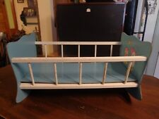 Antique Baby Doll Wood Rocking Cradle Bed Crib Child Toy 20""