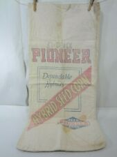 Vintage Pioneer Hybrid Seed Corn Heavy Cotton Seed Bag