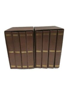 Vintage Photo Book Album Case for Bound Photo Collection With Box- Set of 2