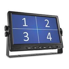 """9 Zoll Split Screen Bildschirm 4 Kameras 9"""" TFT LED LCD Quad Monitor 12V 24V"""