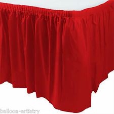 14ft Plastic RED Table Skirt wedding party