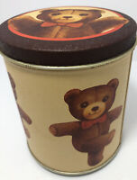 1983 Bristol Ware Vintage Musical Tin My Favorite Things Teddy Bear-VG Condition