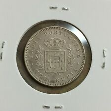 INDIA-PORTUGUESE (GOA) 1/2 Rupia 1882, Ruler:LUDOVICUS I, Silver coin   [#M2142]
