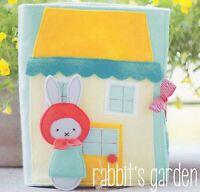 RABBITS GARDEN felt book - Sewing Craft PATTERN - Soft Toy Felt Children