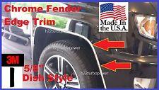 "5/8''  ""DISH STYLE"" WHEEL WELL Fender Edge TRIM (USA Made!) 3M! 20' CHROME KIT"