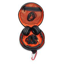 BUBM Black Zip Up Headphones Cables Earphones USB Memory Cards Round Case Bag