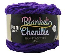 Chenille Blanket Yarn 100g 80m Solid Purple