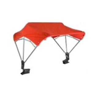 "BUGGY TOP Umbrella For International Fits Case IH TRACTOR 3 BOW 48"" Frame & Red"