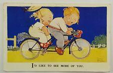 Mabel Lucy Attwell Vintage Postcard Half Penny Stamp  Valentines Love England