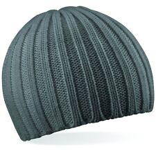 gris épais Bonnet tricot hiver laine bonnet de ski lourd tricot côtelé modèle