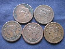 USA 5 LARGE CENTS 1837 1838 1845 1847 1852 - UNITED STATES