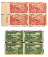 US Stamps Scott#617 618 Mint NH OG 2 Block of 4