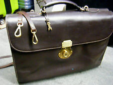 Gold Pfeil Handmade Germany Vintage old Leather  Attache Briefcase