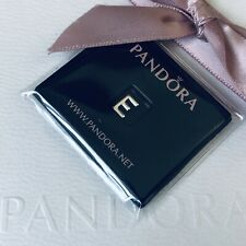 PANDORA Sterling Silver Initial LETTER E Petite Locket Floating Charm NEW 797322
