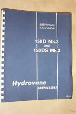 HYDROVANE 150D 150DS MK3 COMPRESSOR USER OWNERS SERVICE & SPARTS PARTS MANUAL