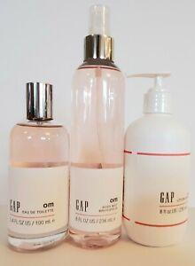 3pc Gap OM HER body lotion body MIST 8 OZ FRAGRANCE EDT 3.4 OZ SPRAY SEALED NEW
