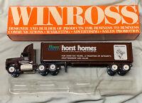 """Vintage Winross Horst Group Horst Homes """"Born To Build"""" Semi Truck Trailer 1:64"""
