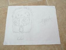 COMA Black Veil Brides 1 Of A Kind Fan Drawing Signed Autographed 8.5 x 11