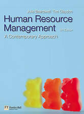 Human Resource Management: a contemporary approach by Tim Claydon 0273707639