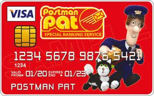 Postman Pat Novelty Plastic Credit Card