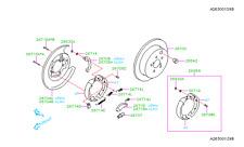 Genuine OEM Subaru Forester Rear Brake Rotor 2014 - 2017 (26700FJ000)