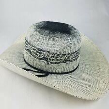 Justin Moore Bullhide Cowboy Hat Redneck Reason White Black Size 7 Western EUC