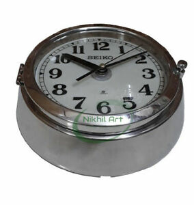 Wall Clock Seiko Vintage Chrome made in JAPAN