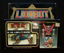 Vintage Diecast 1980 Lionbot Voltron No. 2 Red & No. 4 Blue Lions in Box