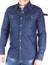 LEVI´S LEVIS Jeanshemd Jeans Hemd red cast dunkel blau langarm Gr.von M bis 3XL