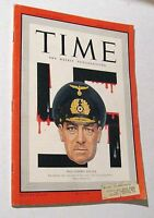 Vintage Time Magazine April 20 1942 Nazi Admiral Raeder Weekly News WWII Bataan