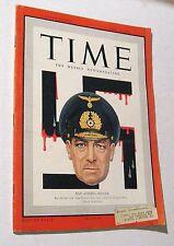 Vintage Time Magazine April 20 1942 Nazi Admiral Raeder Weekly News WWII Bataan