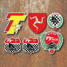 ISLE OF MAN TT Sticker Set Manx Moto GP Classic Motorbike Motorsport decals