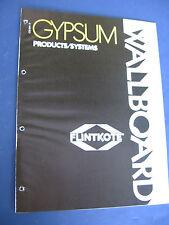 Flintkote Drywall Gypsum Building Products 1973 Catalog Asbestos History