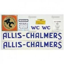 New Allis Chalmers WC Complete Decal Set  (Blue Letters)